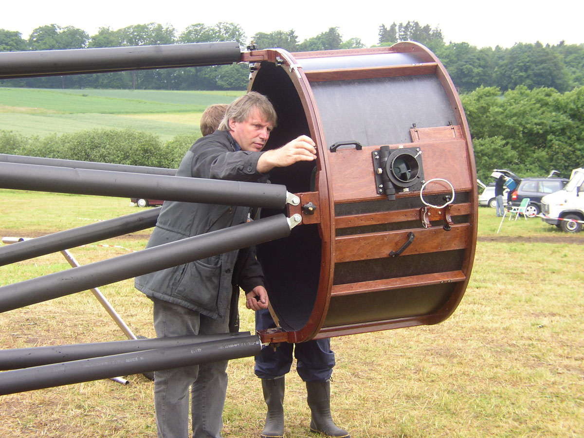 Dr  Erhard Hänssgen's 42 inch (107 cm) Dobsonian Telescope